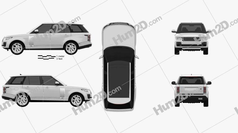 Land Rover Range Rover Autobiography 2018 car clipart