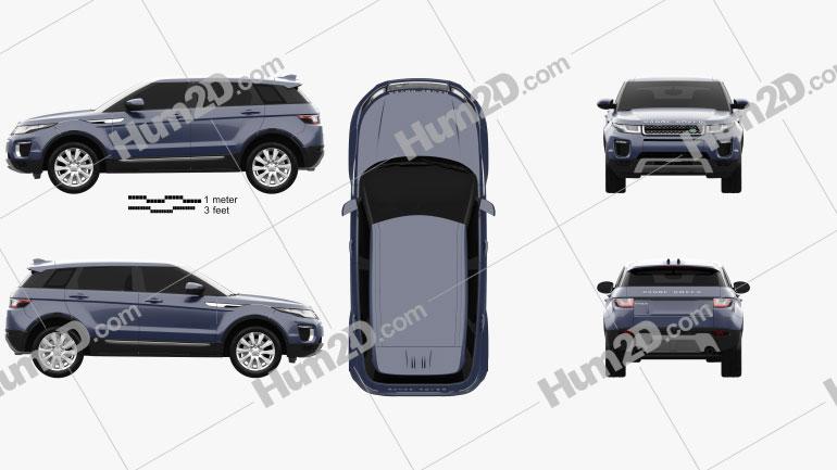 Land-Rover Range Rover Evoque SE 5-door 2015 car clipart