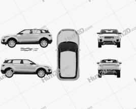 Land Rover Range Rover Evoque SE 5-door with HQ interior 2015