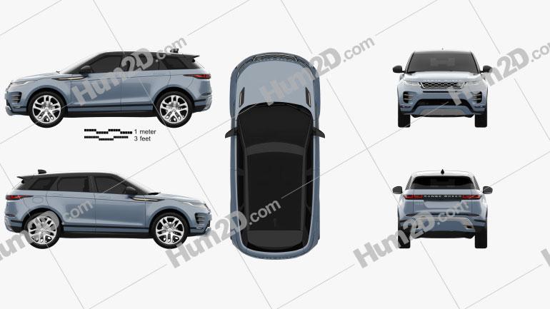 Land Rover Range Rover Evoque R-Dynamic First Edition 2019 car clipart