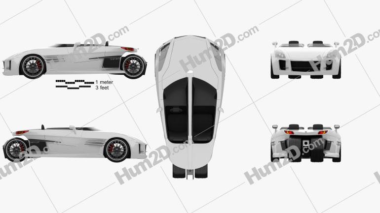 Lazareth Wazuma GT 2017 car clipart