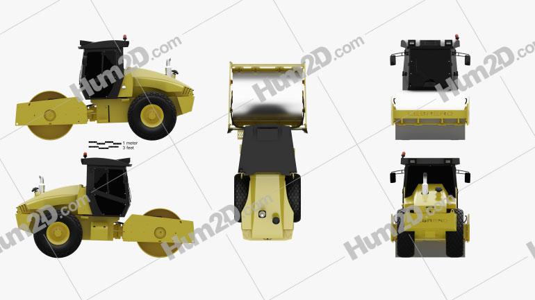 Lebrero X3 Drum Roller 2012 Tractor clipart