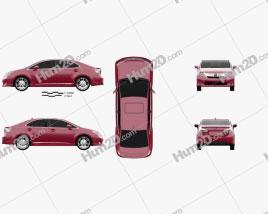 Lexus HS 2010 car clipart