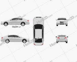 Lexus GS (S190) 2010 car clipart