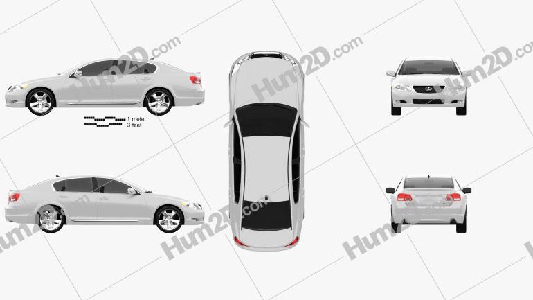Lexus GS (S190) 2010 Clipart Image