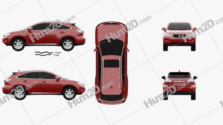 Lexus RX 2010 Clipart Image