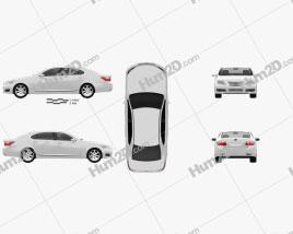 Lexus LS (XF40) 600h 2010 car clipart