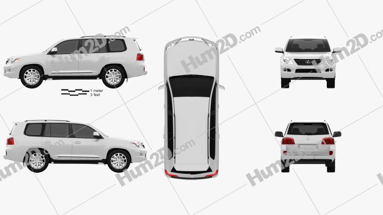 Lexus LX 570 (J200) Clipart Image