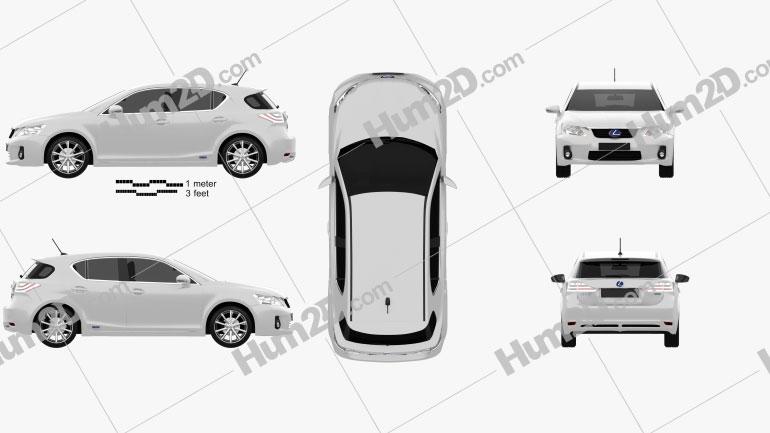 Lexus CT 200h 2011 Clipart Image