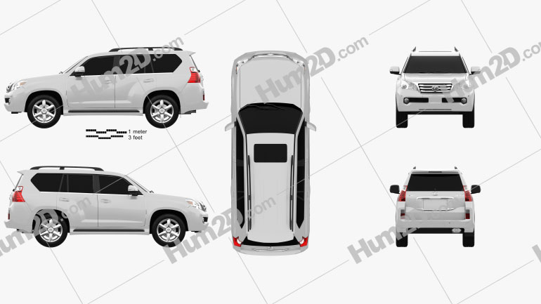 Lexus GX 460 2010 Clipart Image