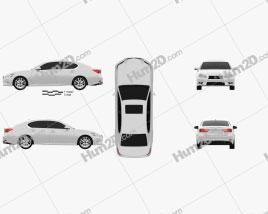 Lexus GS 2012 car clipart
