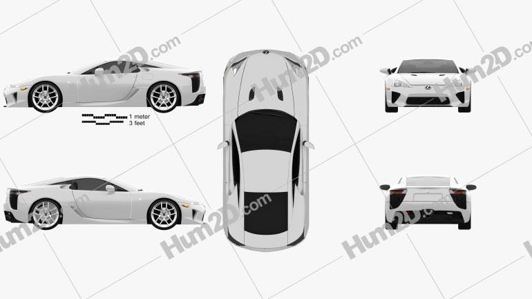 Lexus LFA 2013 car clipart