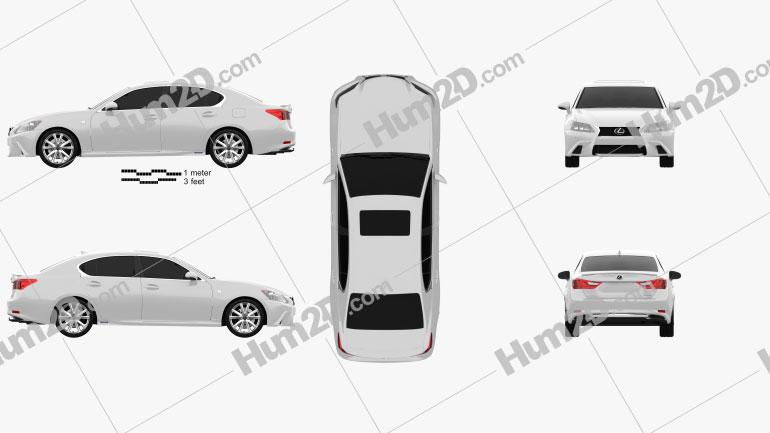 Lexus GS F Sport hybrid (L10) 2012 car clipart