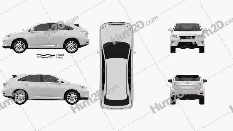 Lexus RX F Sport hybrid (AL10) 2012 car clipart
