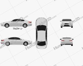 Lexus ES hybrid (XV50) 2013 car clipart