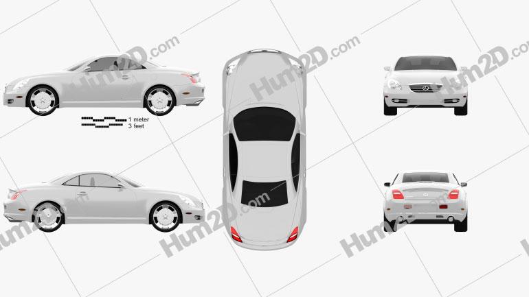 Lexus SC (Z40) 2007 Clipart Image