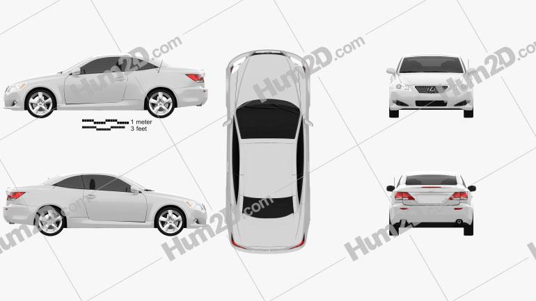 Lexus IS C (XE20) 2012 Clipart Image
