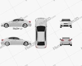 Lexus IS F (XE20) 2012 car clipart