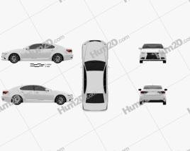 Lexus LS F sport (XF40) 2012 car clipart