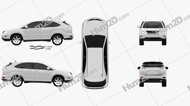 Lexus RX (XU30) 2009 Clipart Image