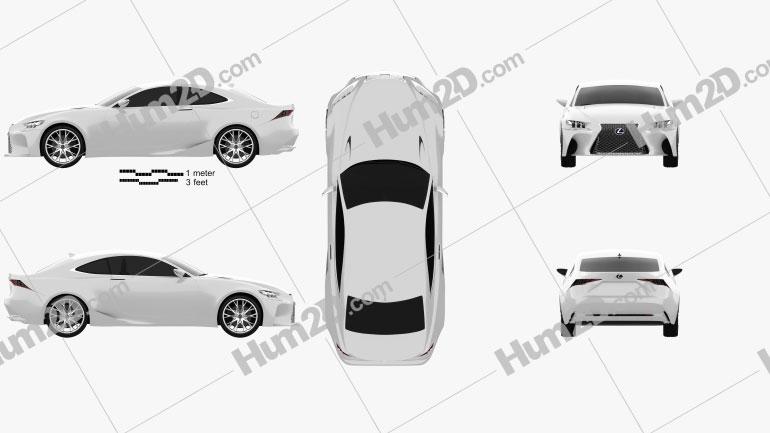 Lexus LF-CC 2012 car clipart