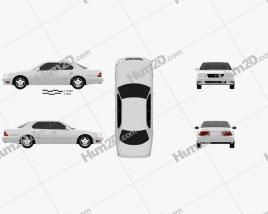 Lexus LS (XF20) 1997 car clipart