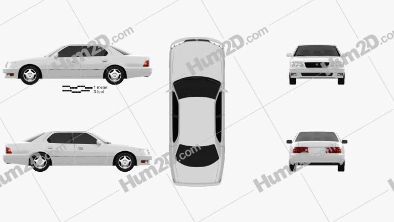 Lexus LS (XF20) 1997 Clipart Image