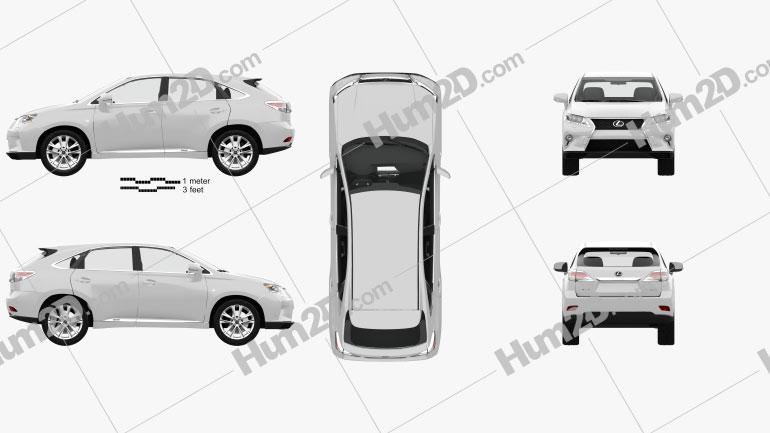 Lexus RX F Sport hybrid (AL10) with HQ interior 2012 car clipart