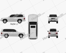 Lexus LX 2003 car clipart