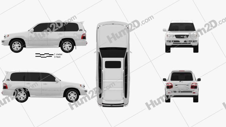 Lexus LX 2003 Clipart Image