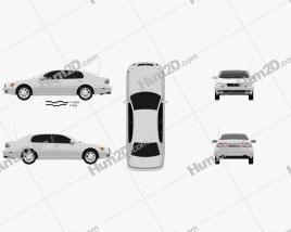 Lexus GS (S140) 1996 car clipart
