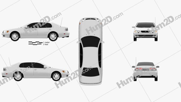 Lexus GS (S140) 1996 Clipart Image