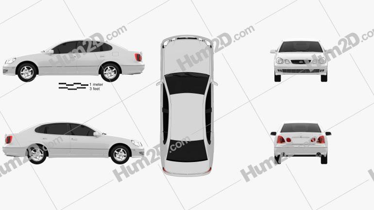 Lexus GS (S160) 2004 Clipart Image