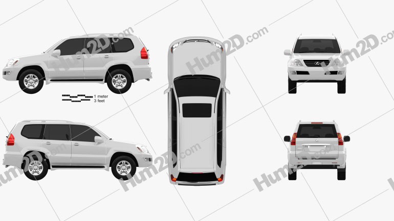 Lexus GX (J120) 2009 Clipart Image