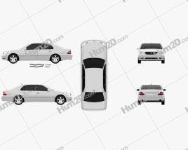 Lexus LS (XF30) 2003 car clipart