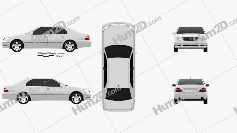 Lexus LS (XF30) 2003 Clipart Image