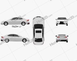 Lexus IS F Sport (XE30) 2013 car clipart