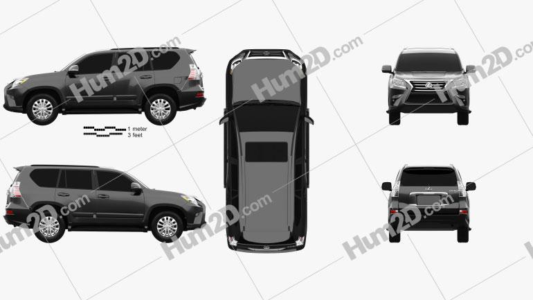 Lexus GX (J150) 2014 Clipart Image