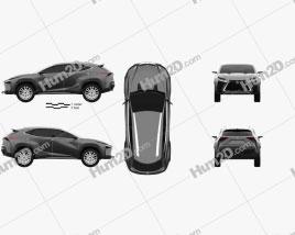 Lexus LF-NX 2013 car clipart