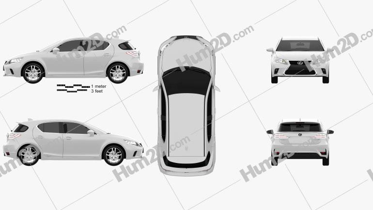 Lexus CT 2014 car clipart