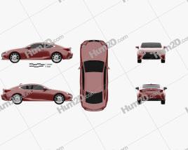 Lexus RC 2014 car clipart