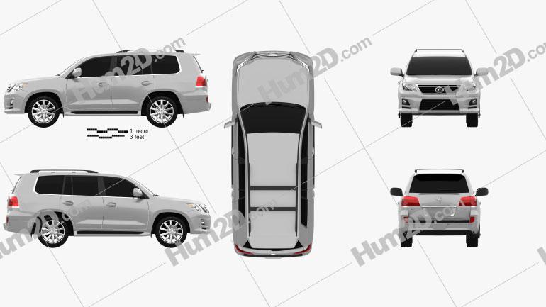 Lexus LX Sport 2010 Clipart Image