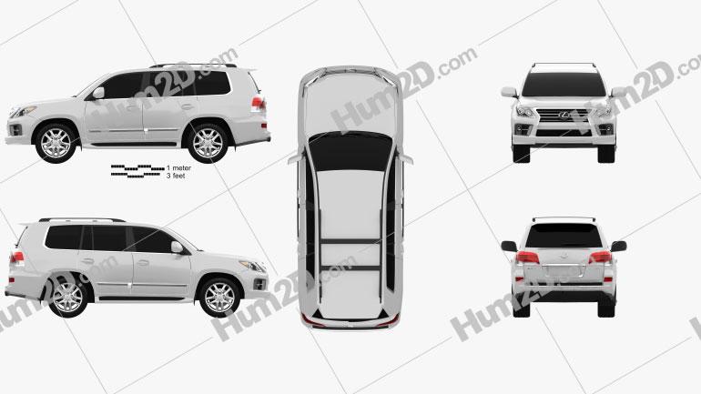 Lexus LX Sport 2013 Clipart Image