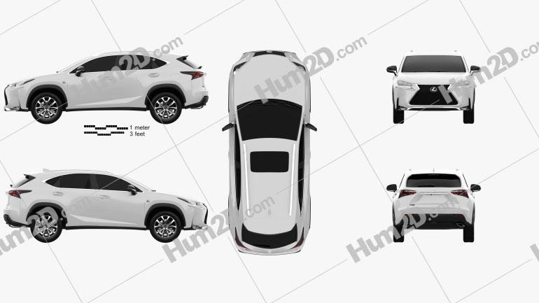 Lexus NX F Sport 2014 Clipart Image
