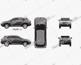 Lexus RX 2012 car clipart