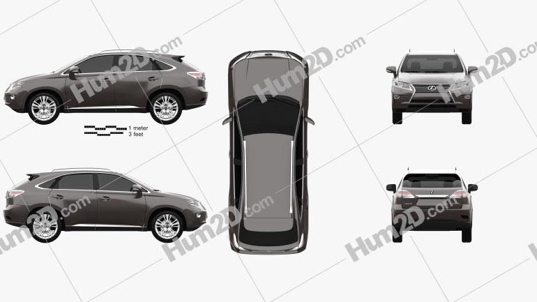 Lexus RX 2012 Clipart Image