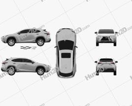 Lexus NX Hybrid 2014 car clipart