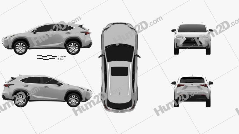 Lexus NX Hybrid 2014 Clipart Image