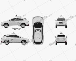 Lexus RX Google Self-driving 2013 car clipart