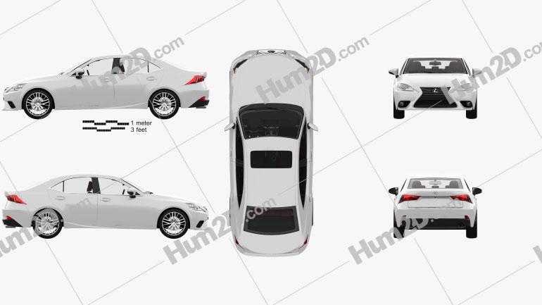 Lexus IS (XE30) mit HD Innenraum 2013 car clipart